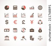 Business and finance icons | Shutterstock vector #211768891