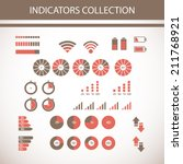 indicators collection | Shutterstock .eps vector #211768921