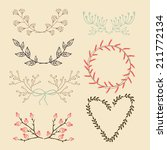 set of isolated hand drawn... | Shutterstock .eps vector #211772134