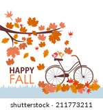 happy fall | Shutterstock .eps vector #211773211