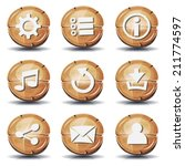 funny wood icons and buttons...