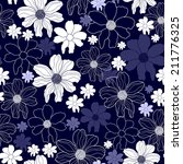 seamless pattern with flowers | Shutterstock .eps vector #211776325