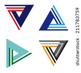 """""""a""""  """"v""""  """"l"""" letters icon set.... 