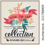 greeting card graphic set... | Shutterstock .eps vector #211788805