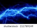 blue fantasy lightning | Shutterstock . vector #211789249