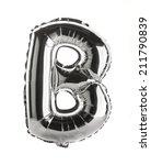 chrome silver balloon font part ... | Shutterstock . vector #211790839