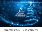 christmas card | Shutterstock .eps vector #211793224
