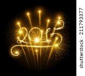 new year's fireworks | Shutterstock .eps vector #211793377