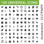 100 universal icons | Shutterstock .eps vector #211793695