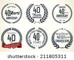 anniversary laurel wreath...   Shutterstock .eps vector #211805311