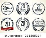 anniversary laurel wreath... | Shutterstock .eps vector #211805314