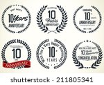 anniversary laurel wreath... | Shutterstock .eps vector #211805341
