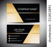 elegant golden black business... | Shutterstock .eps vector #211813891
