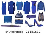 collection of blue dress | Shutterstock . vector #21181612