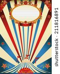 circus vintage. a vintage... | Shutterstock .eps vector #211816891