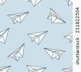 paper planes seamless pattern | Shutterstock .eps vector #211822504