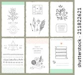 hand drawn collection of... | Shutterstock .eps vector #211822621