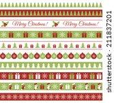 christmas borders | Shutterstock .eps vector #211837201