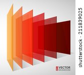 3d perspective colorful... | Shutterstock .eps vector #211839025