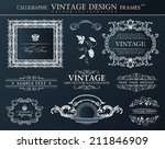 vintage abstract frames .... | Shutterstock .eps vector #211846909