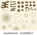 art deco vintage sun burst... | Shutterstock .eps vector #211848517