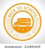 school design over white... | Shutterstock .eps vector #211852429