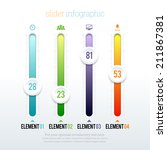 vector illustration of colorful ... | Shutterstock .eps vector #211867381