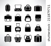 bag icons set | Shutterstock .eps vector #211879711