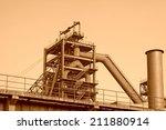 blast furnace in the steel... | Shutterstock . vector #211880914
