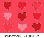 heart icons | Shutterstock . vector #211884175