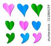 hearts icons | Shutterstock .eps vector #211884259