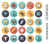 flat design icons for travel...