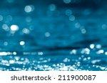 Water Bokeh In The Pool