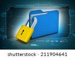 folder locked | Shutterstock . vector #211904641