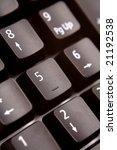 closeup of computer keyboard | Shutterstock . vector #21192538