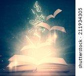 open magic book | Shutterstock . vector #211934305