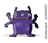 cartoon alien monster | Shutterstock .eps vector #211935457