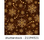 golden brown snowflakes and... | Shutterstock .eps vector #21194521