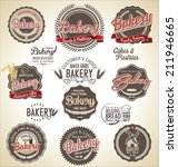 set of vintage bakery labels | Shutterstock .eps vector #211946665