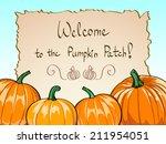 vector pumpkins. pumpkin patch  | Shutterstock .eps vector #211954051