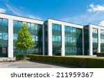 exterior of a modern office... | Shutterstock . vector #211959367