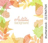 vector autumn background.... | Shutterstock .eps vector #211964764