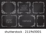 vector set of chalk... | Shutterstock .eps vector #211965001