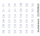 teeth icons set   isolated on... | Shutterstock .eps vector #211965814