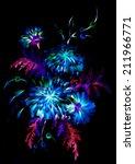 bright   blue unrealistic ...   Shutterstock . vector #211966771