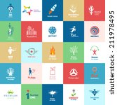 big set of design color icons.... | Shutterstock .eps vector #211978495