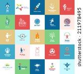 big set of design color icons.... | Shutterstock .eps vector #211978495