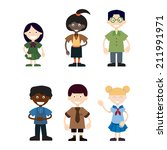 young students | Shutterstock .eps vector #211991971