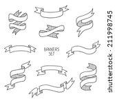 vintage ribbon banners  hand... | Shutterstock .eps vector #211998745
