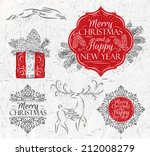 merry christmas and new year... | Shutterstock .eps vector #212008279